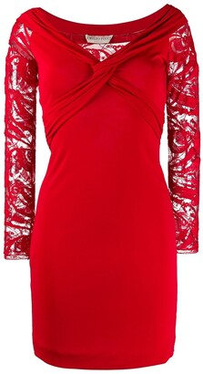 Emilio Pucci Pre Owned lace panel dress