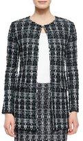 St. John Textured Sparkle Tweed Jacket