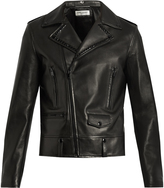 Saint Laurent Stud-embellished leather biker jacket