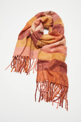 Urban Outfitters Check Plaid Blanket Scarf