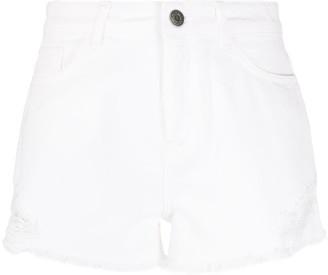 Twin-Set Distressed Denim Shorts