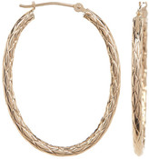 Candela 14K Yellow Gold Twisted Oval 32mm Hoop Earrings