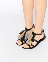 Asos FELIX Mega Tassel Leather Sandals