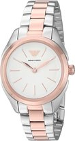 Emporio Armani Women's 'Valeria' Quartz Stainless Steel Casual Watch, Color:-Toned (Model: AR11029)