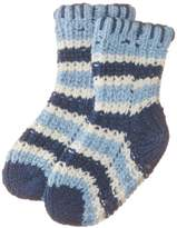 Playshoes Boy's Knitted Socks Soft and Cuddly Anti-Slip Ankle Socks, Blue (Navy)