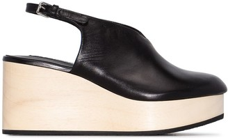 Jil Sander 80mm Slingback Wedge Sandals