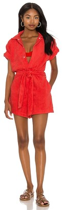 Terry. Belted Romper