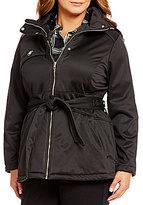 Steve Madden Plus Softshell Belted Anorak Jacket