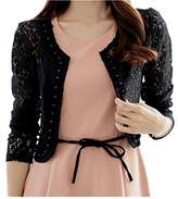 TopOne TOP OneWomen's Lace Shrug Bolero Cardigan Party Long Sleeve Floral