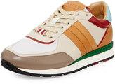 Bally Ascar Colorblock Leather Sneaker, Beige/Multi