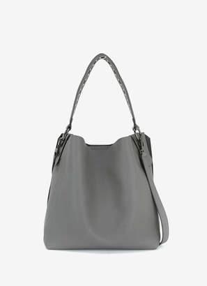 Mint Velvet Ellie Grey Eyelet Shoulder Bag