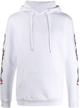 Soulland Granberg embroidered floral hoodie