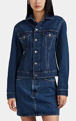 Helmut Lang Women's Denim Trucker Jacket - Md. Blue