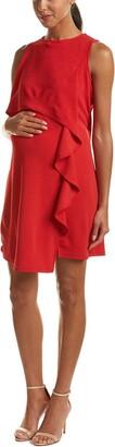 Maternal America Women's Maternity Nursing Cascade Ruffle Dress