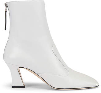 Fendi Leather Ankle Booties in White | FWRD
