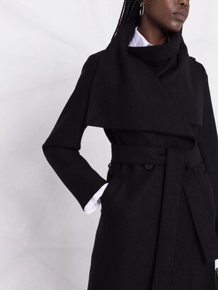 Harris Wharf London Wide-Lapel Belted Coat