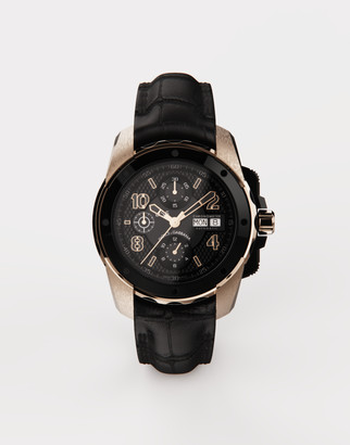 Dolce & Gabbana Ds5 Watch In Red Gold And Steel With Pvd Coating