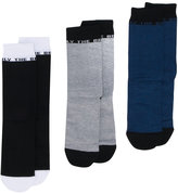 Diesel 'Only the Brave' 3 pack socks - men - Cotton/Nylon/Spandex/Elastane - S