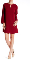 Bobeau Keyhole Bell Sleeve Shift Dress