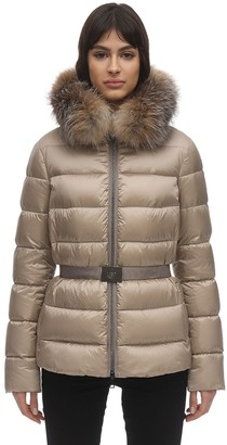 Moncler Tati Down Jacket W/ Fox Fur Collar