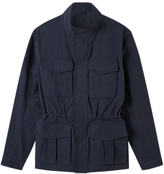 Jigsaw Italian Shower Resistant Field Jacket, Navy