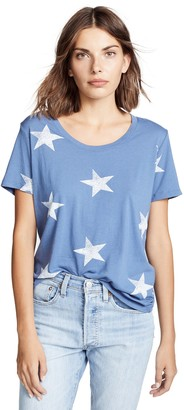 Monrow Women's Oversized Star Relaxed Crew