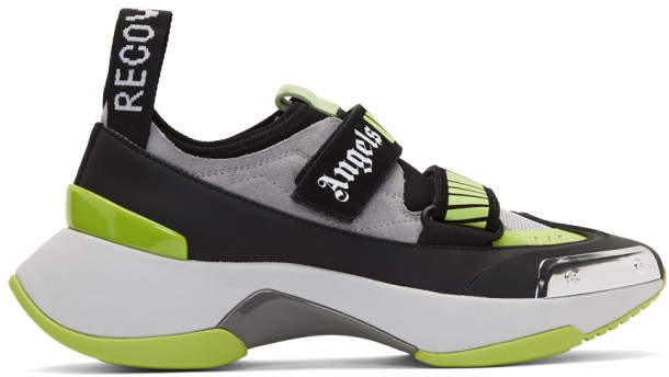 Palm Angels Green and Black Recovery Sneakers
