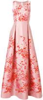 Max Mara floral flared long dress