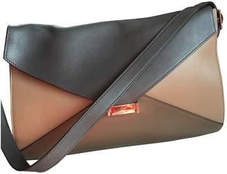 Celine Diamond Clutch Brown Leather Handbags