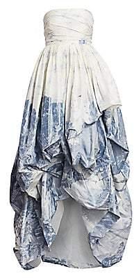 Oscar de la Renta Women's Strapless High-Low Gown