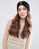 Asos Premium Pleated Embellished Turban Headband