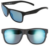 Smith Men's Lowdown Xl 58Mm Polarized Sunglasses - Matte Black / Blue Mirror