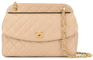 Chanel Pre-Owned '85-93's quilted double chain shoulder bag