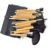 Echo Beauty 32 Pcs Professional Cosmetic Makeup Brush Set Kit with Synthetic Leather Case,Black