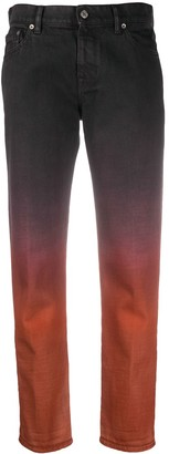 Golden Goose Ombre-Effect Straight-Leg Jeans