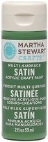 Martha Stewart Crafts Multi-surface Satin Acrylic Craft Paint In Assorted Col...
