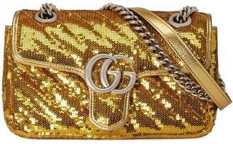 Gucci GG Marmont sequin shoulder bag