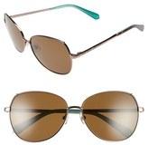 Kate Spade 'candida' 57mm Polarized Aviator Sunglasses