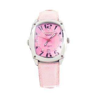 Chronotech Womens Analogue Quartz Watch with Leather Strap CT7696L-04