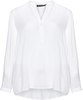 Jette Joop Plus Size Dipped hem woven fabric blouse