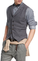 Brunello Cucinelli Wool-Cashmere Twill Waistcoat