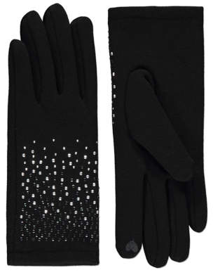 George Touchscreen Diamante Gloves