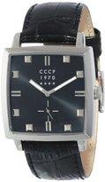 Cccp Men's CP-7009-04 St. Petersburg Analog Display Japanese Quartz Black Watch