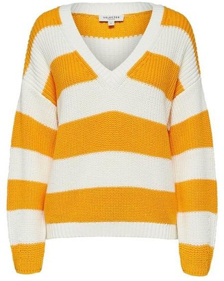 Selected Bandani Knitted Pullover - XS / Radiant Yellow