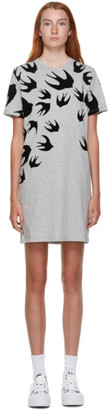 McQ Grey Swallows Short Dress