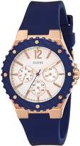 GUESS Womens Multi dial Quartz Watch with Silicone Strap W0149L5