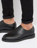 Zign Shoes Leather Elastic Detail Shoe