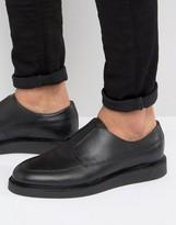 Zign Shoes Leather Elastic Detail Shoes