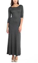 Celeste Charcoal Maxi Dress