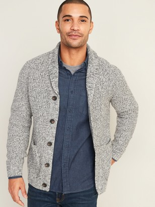 Old Navy Marled Shawl-Collar Button-Front Cardigan for Men